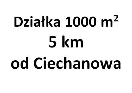 Działka na sprzedaż - Ciechanów, Ciechanowski (pow.), 1000 m², 45 000 PLN, NET-38A/2013