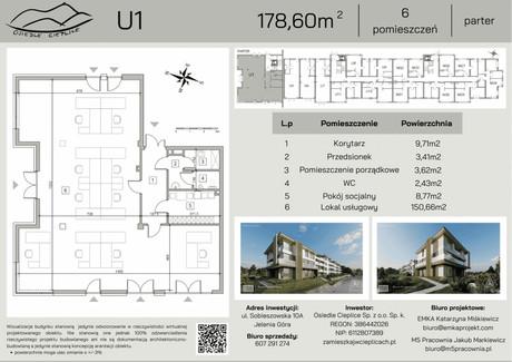 Lokal na sprzedaż - Sobieszowska Cieplice Śląskie-Zdrój, Jelenia Góra, 178,6 m², 1 008 197 PLN, NET-15