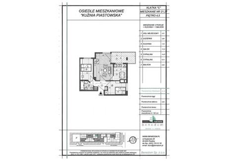 Mieszkanie na sprzedaż - ul. Sowińskiego Warszawa, Piastów, pruszkowski, 51,57 m², inf. u dewelopera, NET-5C27