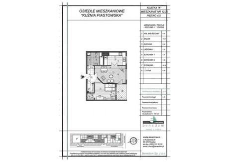Mieszkanie na sprzedaż - ul. Sowińskiego Warszawa, Piastów, pruszkowski, 55,28 m², inf. u dewelopera, NET-4A12