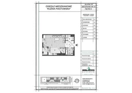 Mieszkanie na sprzedaż - ul. Sowińskiego Warszawa, Piastów, pruszkowski, 57,16 m², inf. u dewelopera, NET-6B33