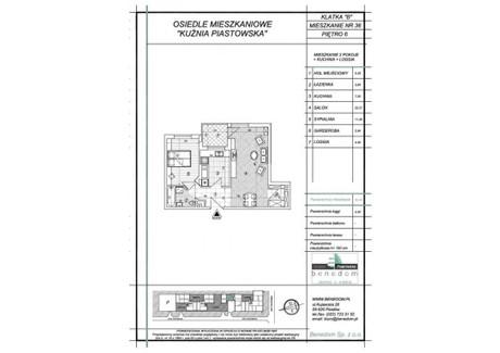 Mieszkanie na sprzedaż - ul. Sowińskiego Warszawa, Piastów, pruszkowski, 52,44 m², inf. u dewelopera, NET-6B36
